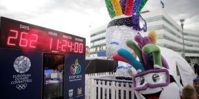 Countdown to EYOF 2019 has begun, Timer on SCC square
