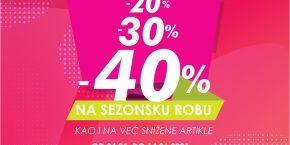 Discounts in Planika store